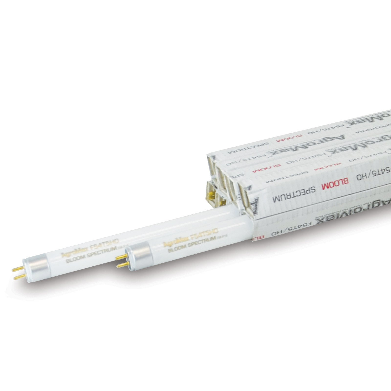 8-Pack AgroMax 4 Foot (45.75'') 3,000K Bloom T5 Fluorescent Grow Light Bulbs - (8) F54T5HO Bulbs