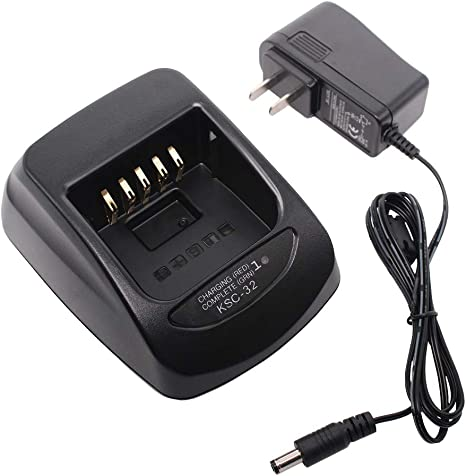 KSC-32 Rapid Battery Charger Power Adapter for KENWOOD TH-D72A NX200G NX210G