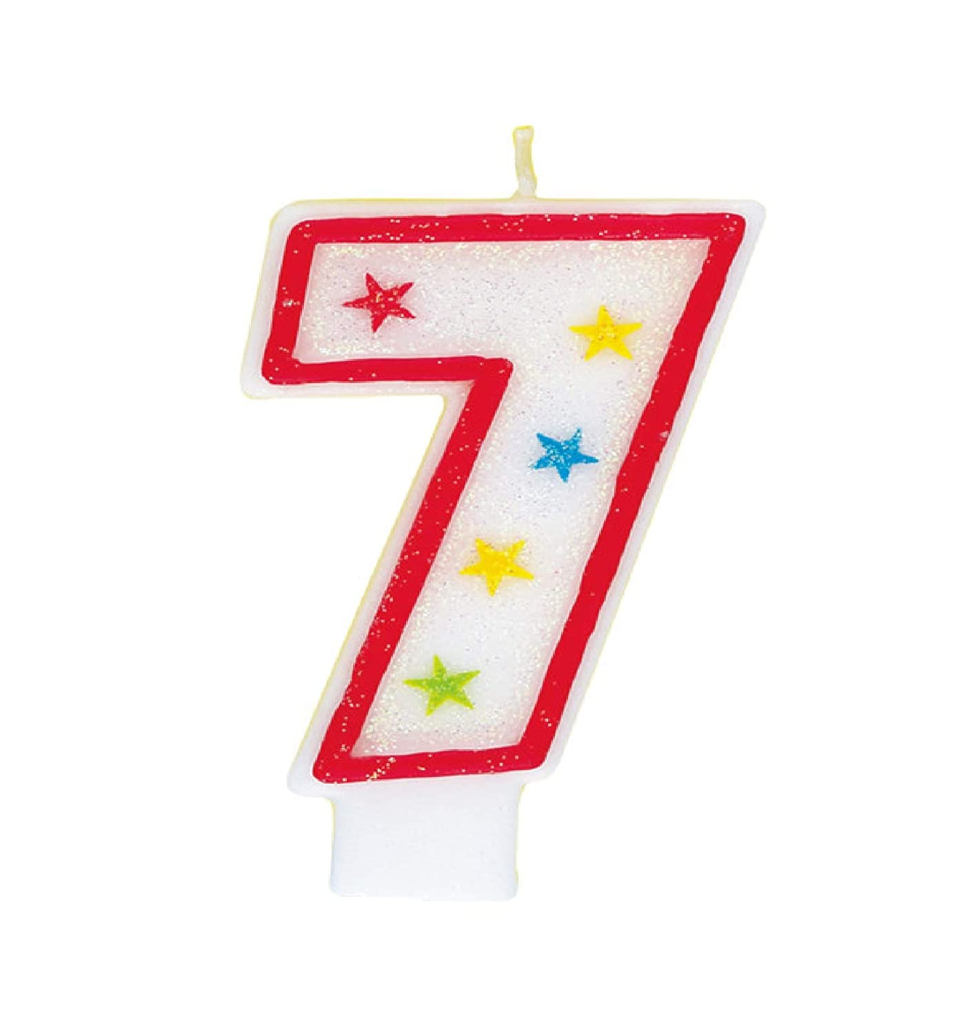 Glitter Number 2 Birthday Candle /& Happy Birthday Cake Topper Unique 37312
