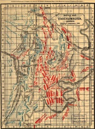 Amazon Com Civil War Map Reprint Battle Map Of Chickamauga