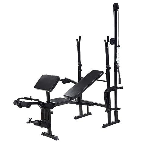 Pleasing Amazon Com Kchexadjustable Weight Lifting Flat Bench Inzonedesignstudio Interior Chair Design Inzonedesignstudiocom