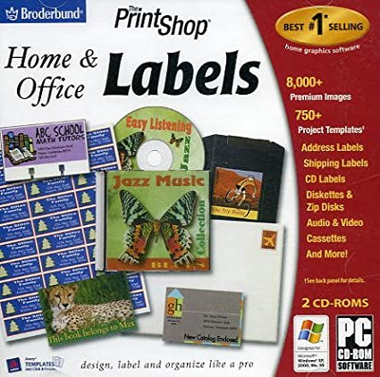 Amazoncom The Print Shop Home and Office Labels Software
