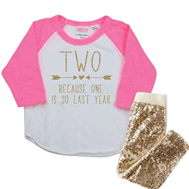 2nd Birthday Outfit Girl 2 Year Old Gift Set
