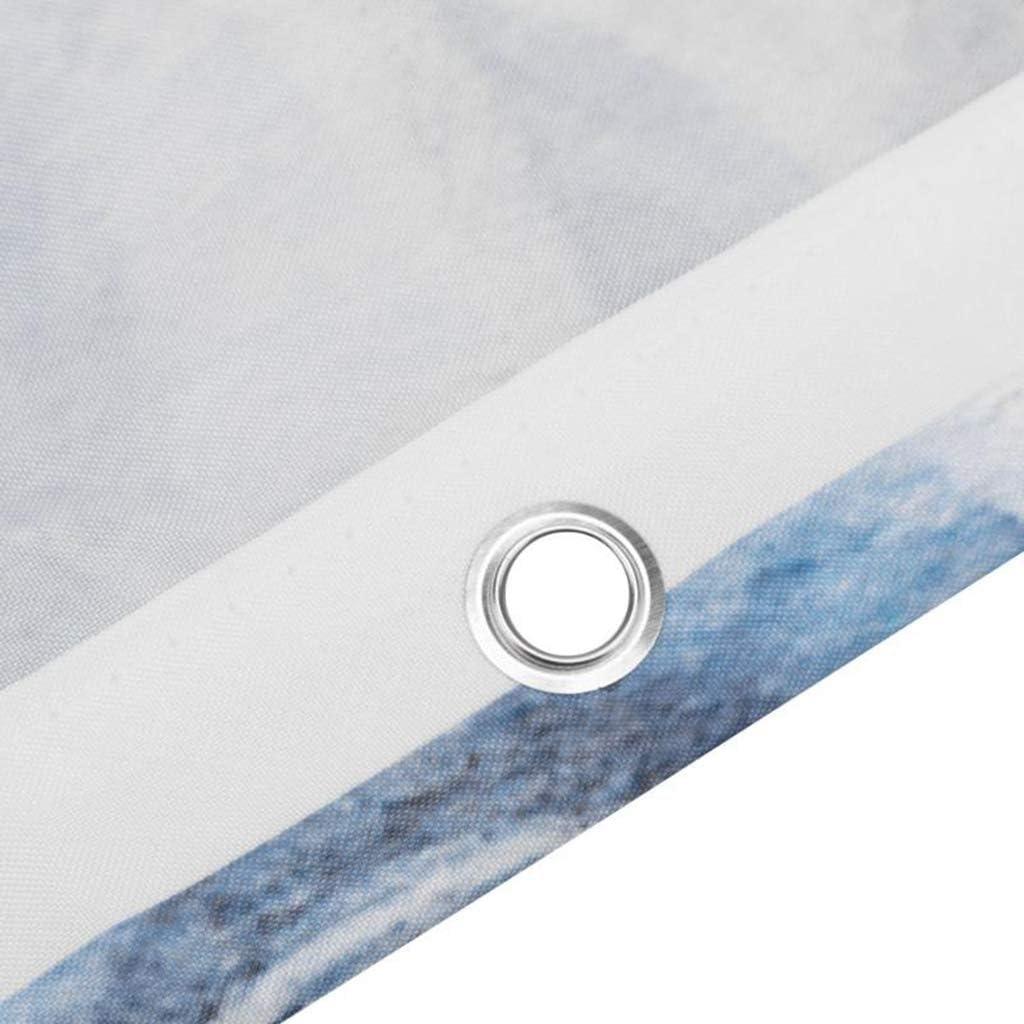 N//X Tenda da docciaTenda per Doccia Art Large Colorful Stagione Primaverile con Farfalle Foglie di riflessione in Tessuto Colori Arcobaleno per Bagno