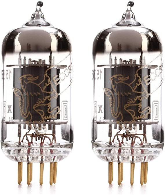 Matched Pair (2x) Genalex Gold Lion 12AX7 tube (ECC83)