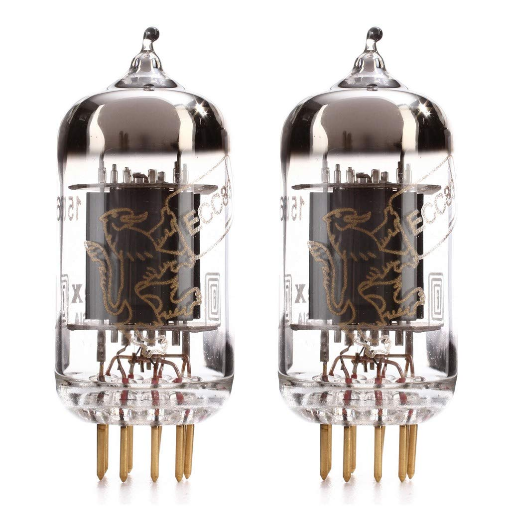 Matched Pair (2x) Genalex Gold Lion 12AX7 tube (ECC83) by Genalex