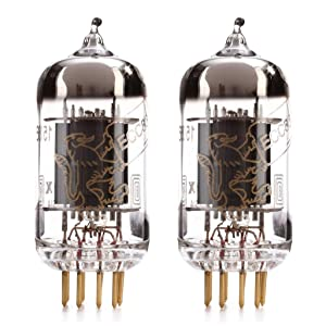 Matched Pair (2x) Genalex Gold Lion 12AX7 tube (ECC83)