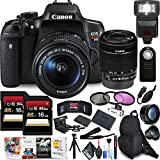 Canon EOS Rebel T6i DSLR Camera 18-55mm Lens Two Memory Cards, Photo Editing Software, Backpacks Supreme Accessory Kit