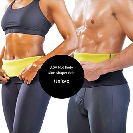 f84b505dff Buy ADA Hot Body Shaper Waist belt  Hot Body Shapers Tummy Trimmer Neotex ( Unisex) ( 4XL Waist Size 37-44 Inches) Online at Low Prices in India -  Amazon.in