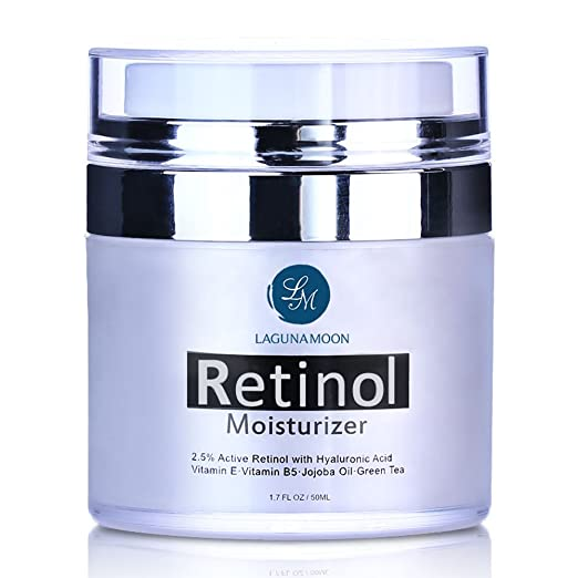 Retinol Moisturizer Cream for Face and Eye with 2.5% Retinol and Hyaluronic Acid, Vitamin E and Green Tea,Anti Aging Day and Night Cream 1.7 OZ/50ML