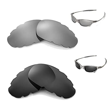 f9ee387d91 New Walleva Polarized Black + Titanium Vented Lenses For Oakley Juliet