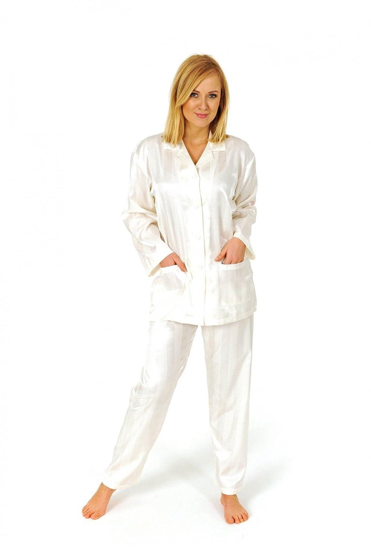 Normann Copenhagen Satin Pyjama Streifendessin innen angeraut 251 201 94 010
