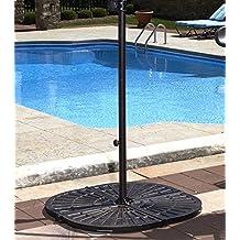 Blue Wave Resin Umbrella Base Weights, (4) 30-Pound, Bronze