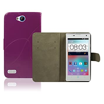 on sale daa1e 4ec9e ZTE Kis 3 Max Case, thinkmobile - Purple Pu Leather: Amazon.co.uk ...