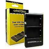 PATONA Dual Caricabatteria EN-EL5 per Nikon CoolPix 3700 4200 5200 5900 6000 7900 P3 P4 P80 P90 P100 P500 P510 P520 P530 P5000 P5001 P5100 P6000 S10 - KlickTel Navigator con micro USB