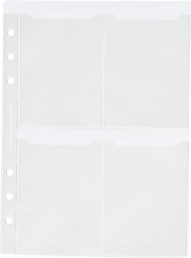 Filofax Deskfax size Business Card Holder Insert Refill 173616