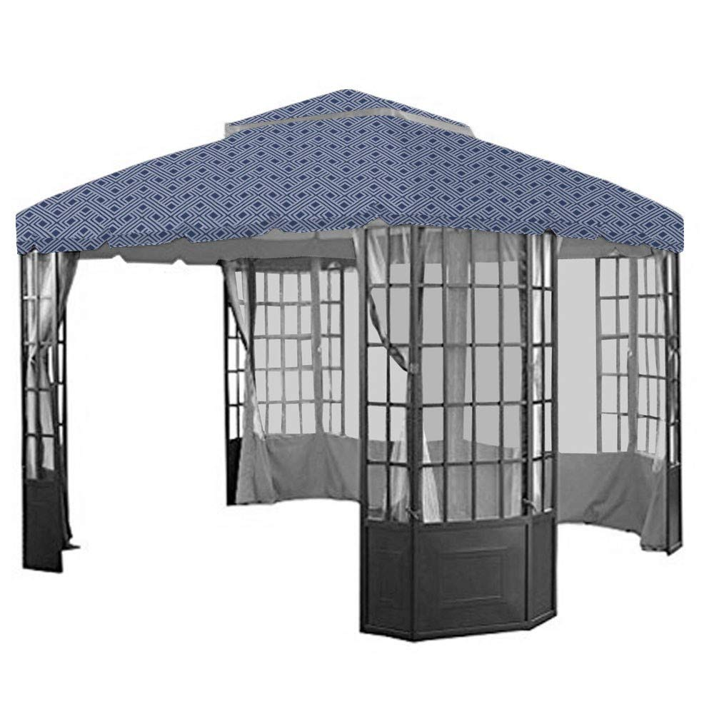 Garden Winds Replacement Canopy Top Cover for The Sears Bay Window Gazebo – Midnight Trellis