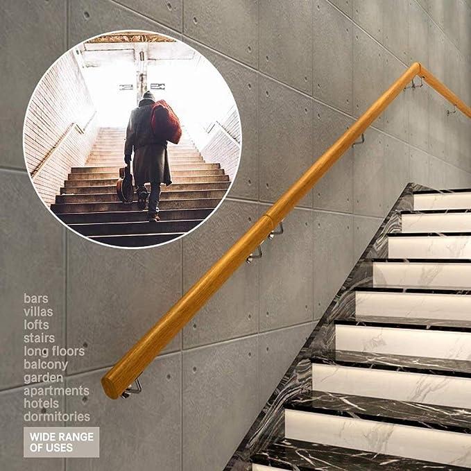 FAFZ Barandillas para Escaleras Interiores (30 Cm-600 Cm), Kit Completo De Barandillas De Pino, Barra De Apoyo para Escalera Sin Barreras para Ancianos, Barandas De Terraza con Pasillos De Jardín: Amazon.es: Hogar