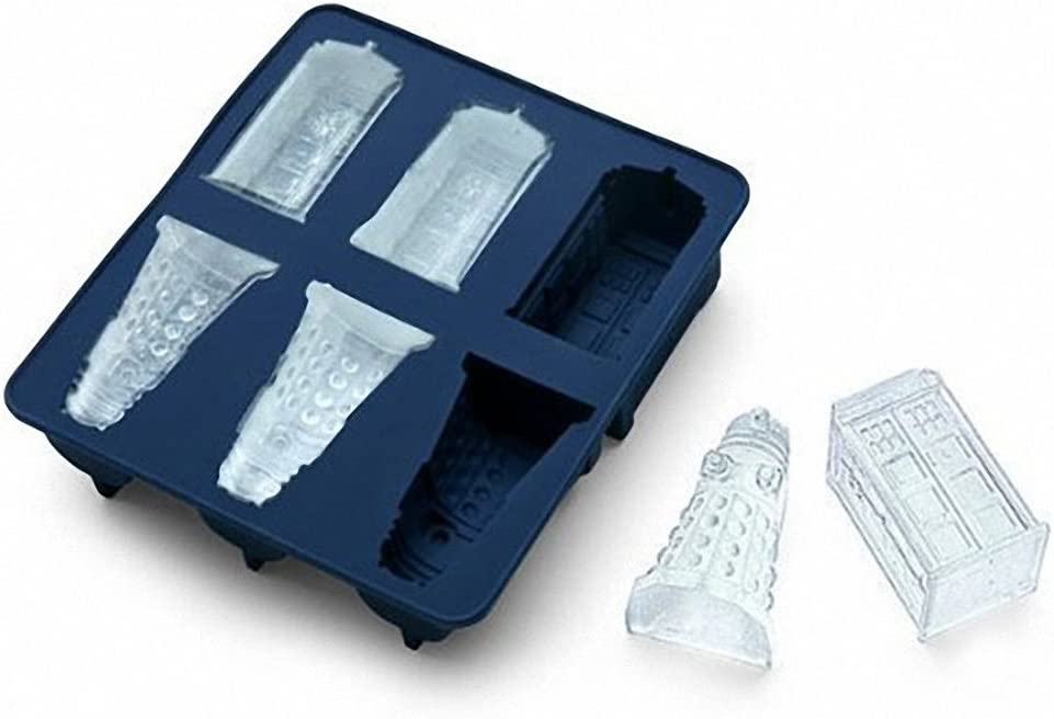 Doctor Who Ice Cubes Tray - MoldFun Tardis & Daleks Silicone Mold for Chocolates, Jello Shots, Soaps