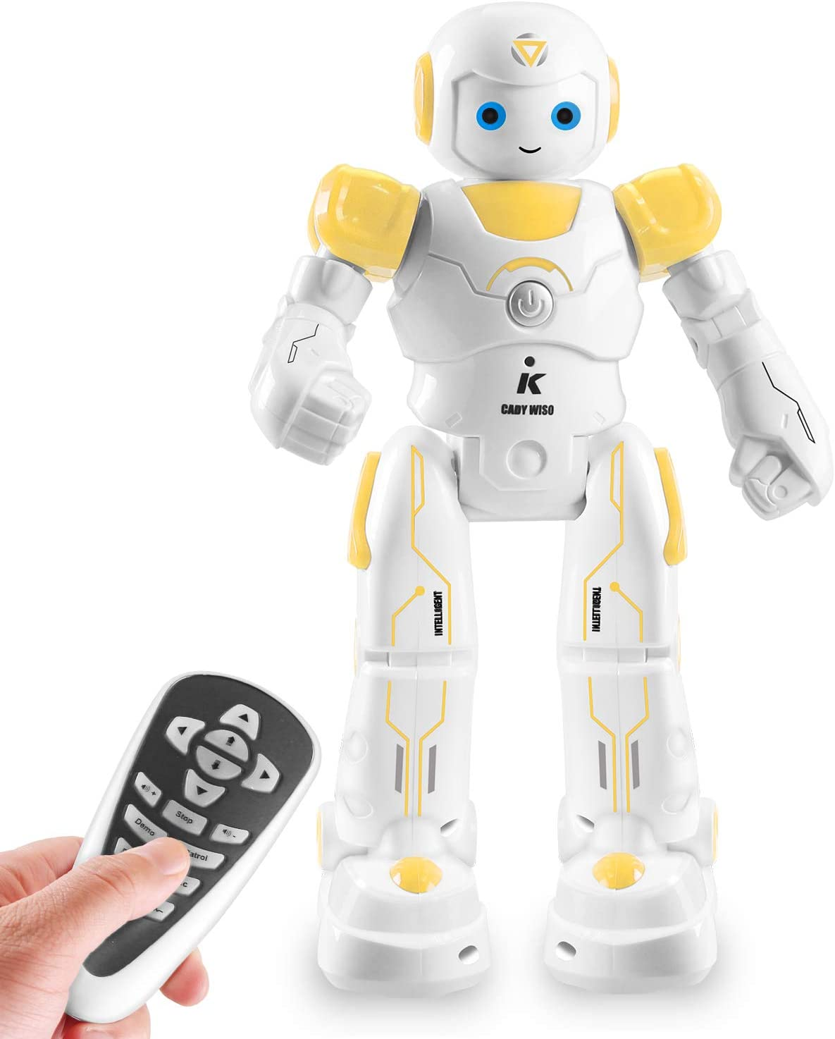 IHBUDS Smart and Programmable Remote-Control Robot for Kids. Beginner's STEM Toy Robot Friend for Kids to Learn as They Play-(Yellow)
