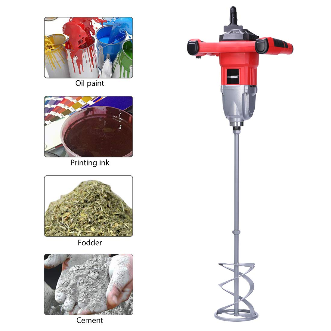 VIVOHOME 110V 1600W Electric Handheld Paint Cement Mortar Mixer Machine with 7 Adjustable Speed by VIVOHOME