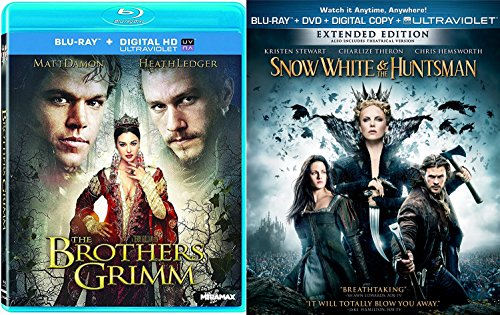 Modern Snow White Extended Blu Ray The Huntsman + The Brothers Grimm Set Fairy Tale Action Double Feature