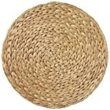 Merritt Water Hyacinth 14.5-inch Round Placemats, Set of 6, Natural