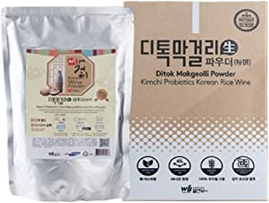 Ditok Craft Makgeolli (3L) Starter Powder - for Brewing Traditional Korean Rice Liquor. Contains Kimchi Lactobacillus Probiotics for Gut Health. Fermentation Starter Powder