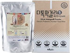Ditok Craft Makgeolli (3L) Starter Powder - for Brewing Traditional Korean Rice Liquor. Contains Kimchi Lactobacillus Probiotics for Gut Health. Fermentation Starter Powder