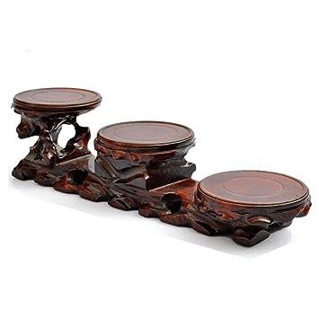 Amazon Vase Base Wood Carvings Bonsai Stent Jade Shelves Teapot