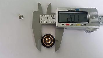 Ruedas con rodamientos para repuesto de mampara de ducha corrediza, 6 unidades, 20 mm de diámetro con tornillo M4. Tornillos incluidos: Amazon.es: Bricolaje y herramientas