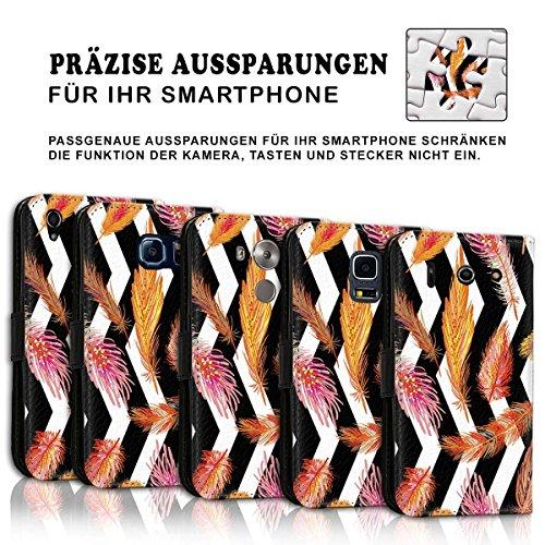 Wallet Book Style Flip Handy Tasche Case Schutz Hülle Schale Motiv Etui für Apple iPhone 6 Plus / 6S Plus - Design Flip MVD246