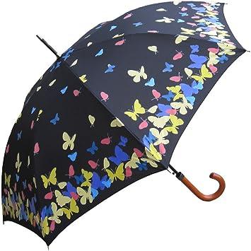 RainStoppers 46-Inch Auto Abierto Paraguas con Mango de Gancho Que Cambia de Color
