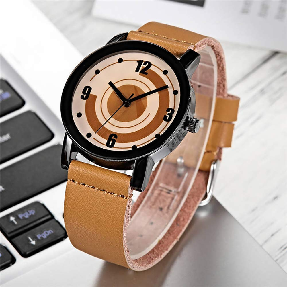 Nordic Flamingo Print Round Dial Mesh Strap Analog Quartz Women Wrist Watch Gift by Gaweb (Image #7)