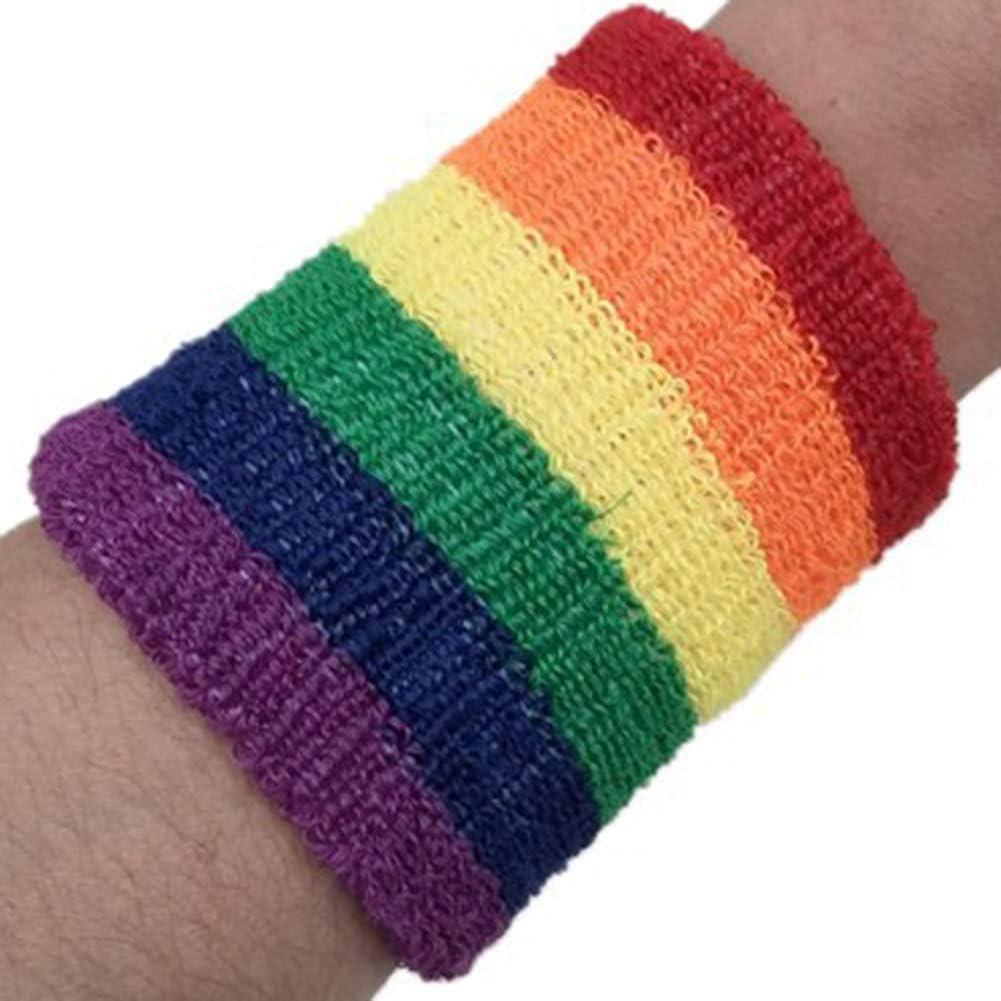 Sisn Lot de 2 bracelets de sport pour le basket-ball le badminton le badminton les porte-serviettes pratiques Multicolore 8 cm x 8 cm le tennis