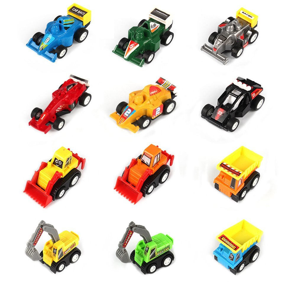 贈り物 Oun (12個) Nana B07G272FRR ミニカー プルバック車両 子供用 レースカー おもちゃと建設車両の詰め合わせ ミニカー おもちゃセット ギフトに最適 誕生日パーティー用品 (12個) B07G272FRR, 輝い:c69d106a --- diceanalytics.pk
