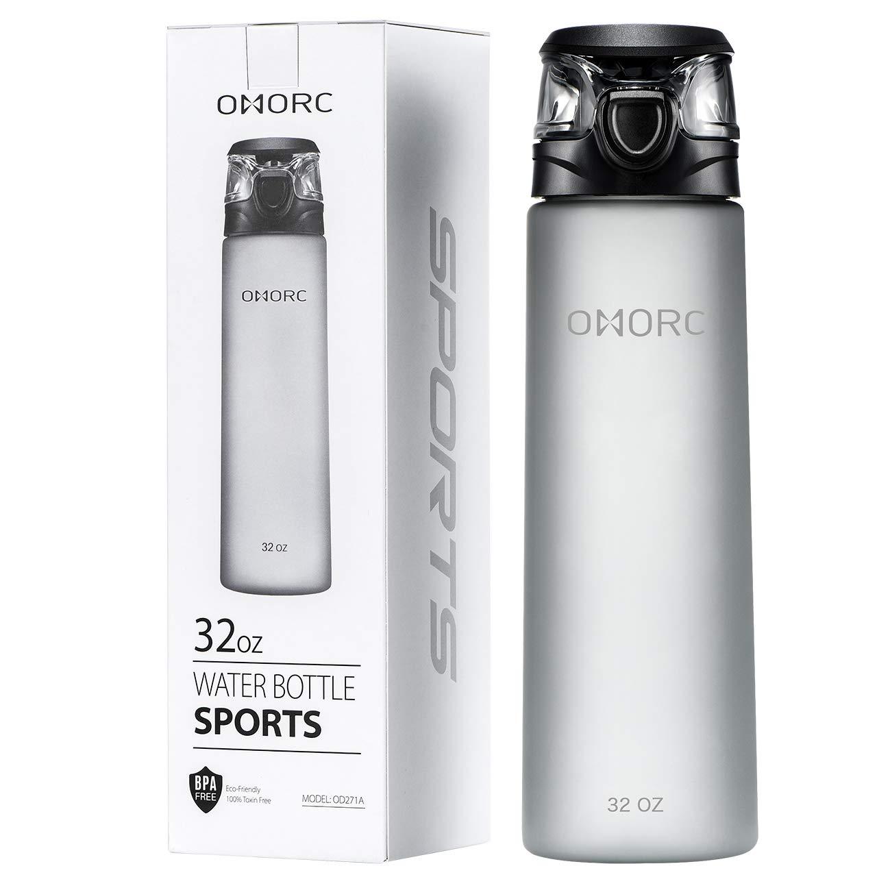 OMORC Botella de Agua, 900ML Plástica Deportes Botella de Agua ...