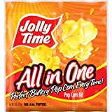 popcorn and oil for machine - JOLLY TIME All in One Kit for 6 oz Popcorn Machine | Portion Packet with Kernels, Oil and Salt for Commercial, Home & Movie Theater Poppers (Net Wt. 8 oz Each, Pack of 36)