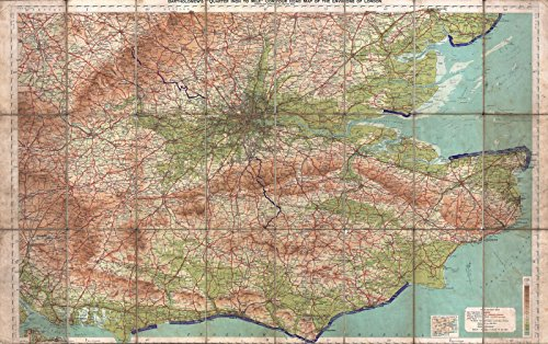 Historic Map | Map of The Environs of London, England, 1928 | Historical Antique Vintage Decor Poster Wall Art | 16in x 24in