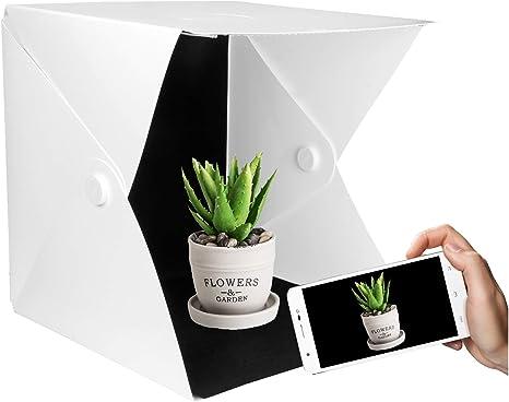 Yorbay Caja de Luz 40x40x40cm Fotografía Portátil para Estudio Fotográfico con 2 Tira de LED y 6 Fondos Cubos y Tiendas de luz para Estudios de fotografía: Amazon.es: Electrónica
