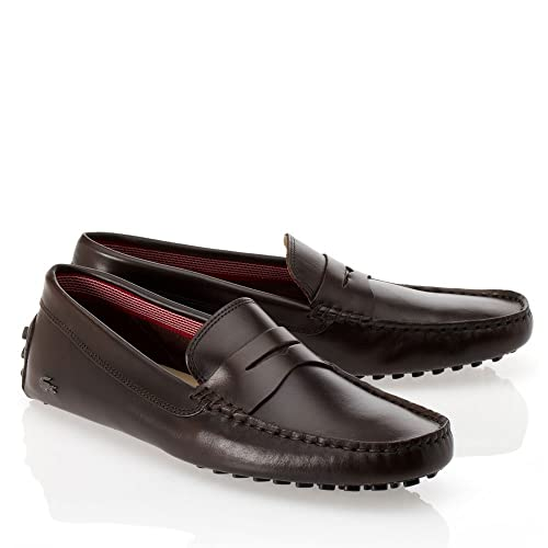23ada051ce24 Lacoste Footwear Loafers Concours 14 Dk Brown Slip On Driving Shoes  Amazon. co.uk  Shoes   Bags