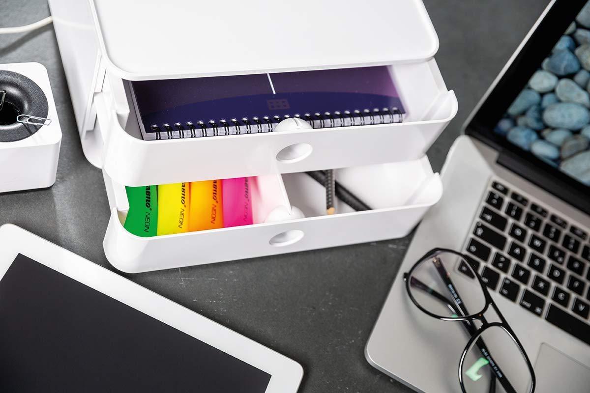 HAN 1120-81 Design Schubladenbox stapelbar mit 2 Schubladen apricot orange SMART-BOX ALLISON