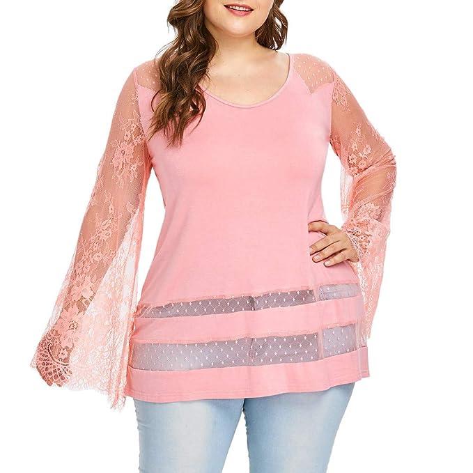 e144766b69 Blusas de Mujer Camisa de Manga Larga Otoño del Casual Blusas Manga Flare  de Floral Impreso