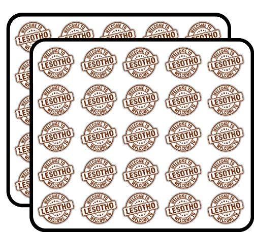 Lesotho Grunge Welcome Travel Stamp Art Decor Sticker for Scrapbooking, Calendars, Arts, Kids DIY Crafts, Album, Bullet Journals 50 Pack