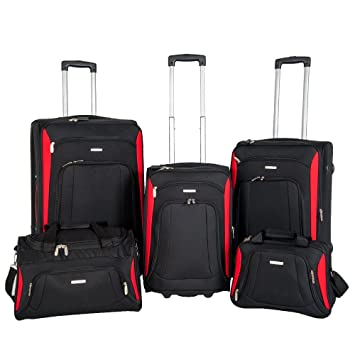 NEWEST Super Lightweight 2 Wheel Spinner 5 piece set Suitcase ...
