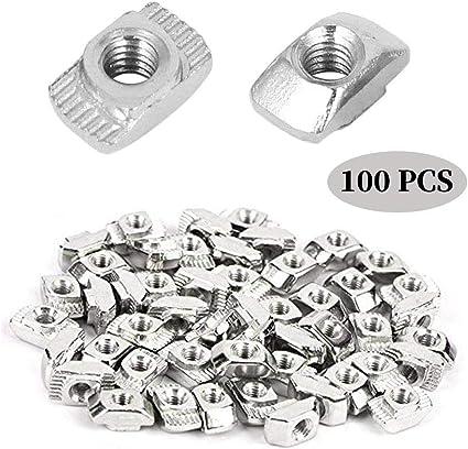 Dado M5 acciaio nickelato 100 pezzi