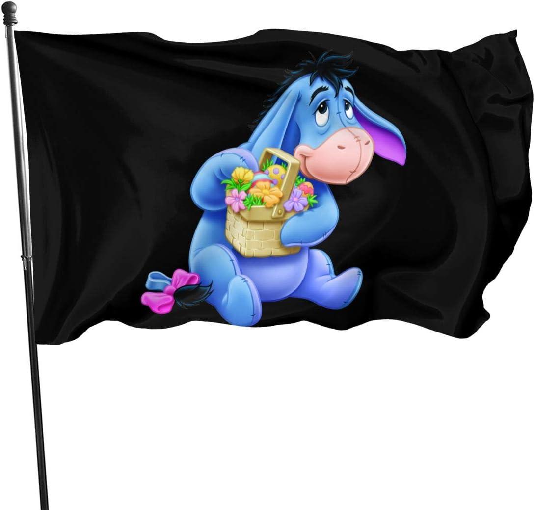 AsziSham Anime Eeyore Garden Flag Flag Outdoor Flags Home Flag Garden Flag 3' X 5' Ft One Size