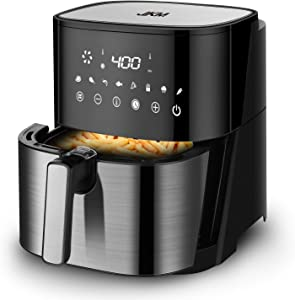 JKM 5.3 Quart Air Fryer XL Oven Stainless Steel,1700W, 8 Cooking Preset, Multifunction LED Digital Display, Auto Shut Off