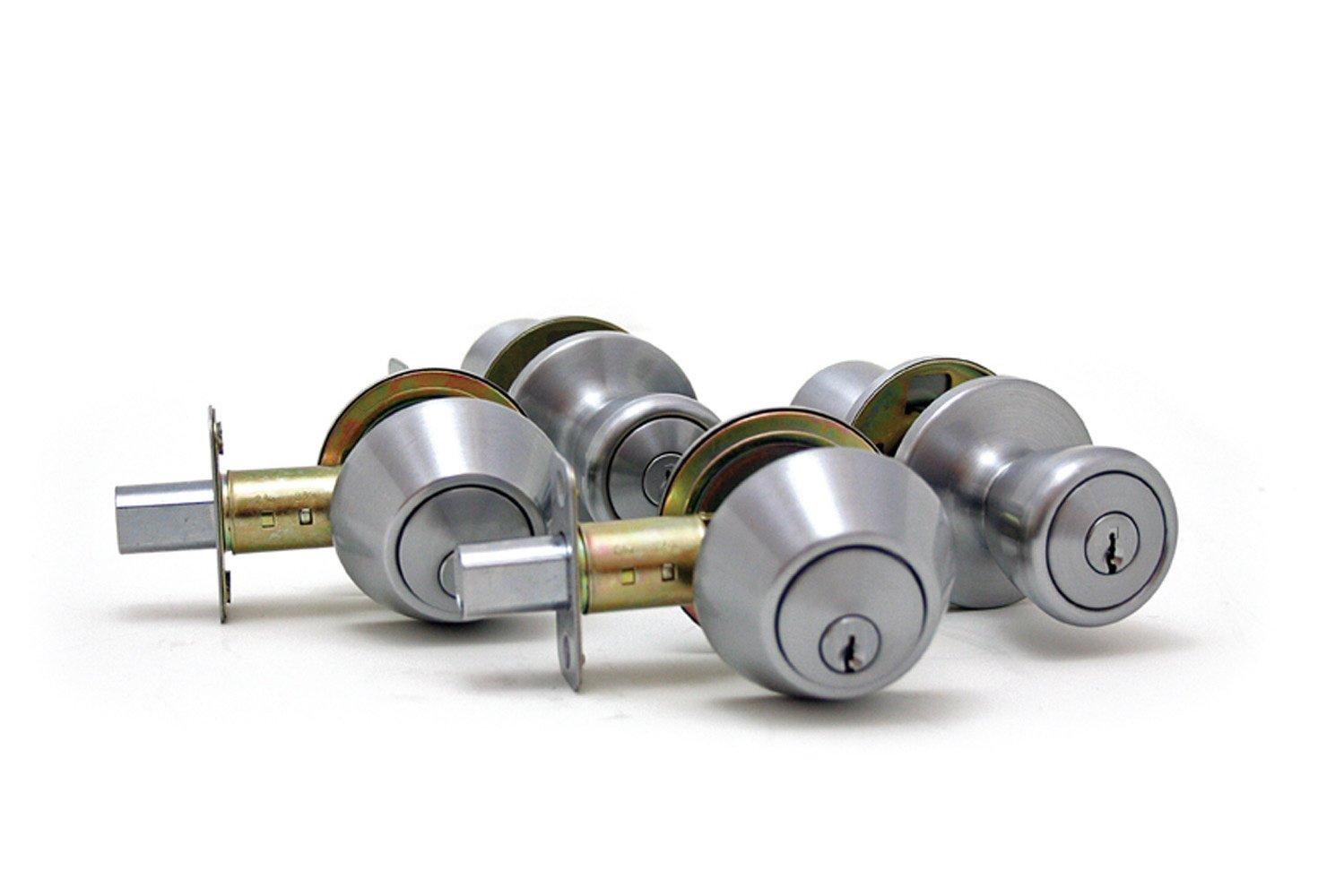 Lewis Hyman 1738002 Atlas Home Security Door Lock Kit, Satin Nickel