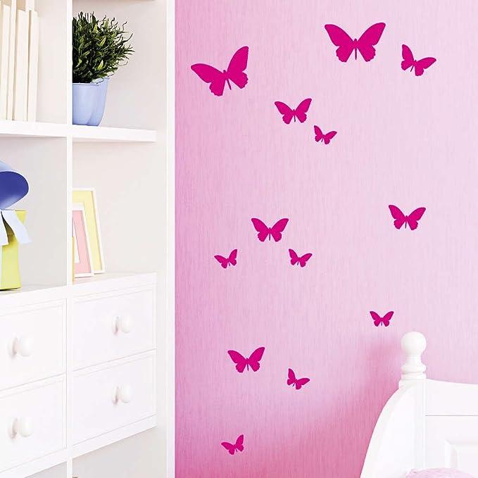 5 opinioni per Decalcomania da parete loft farfalle 13 pezzi 49 colori a scelta- vinile, rosa